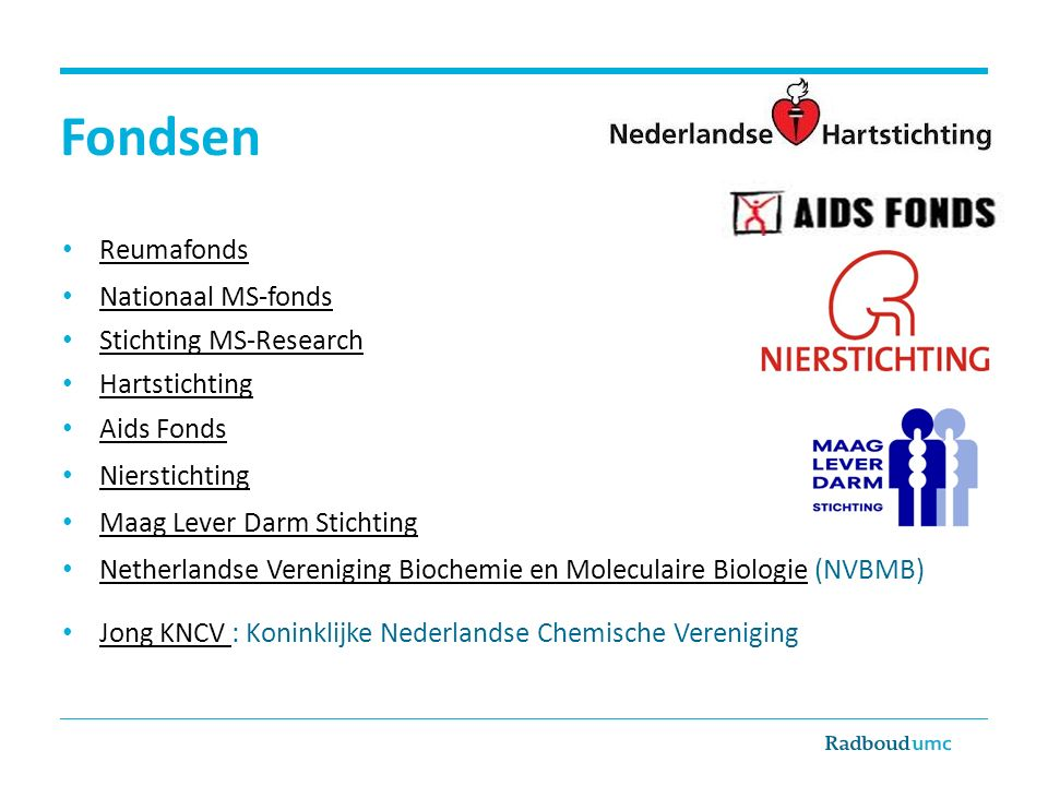 Fondsen Reumafonds Nationaal MS-fonds Stichting MS-Research