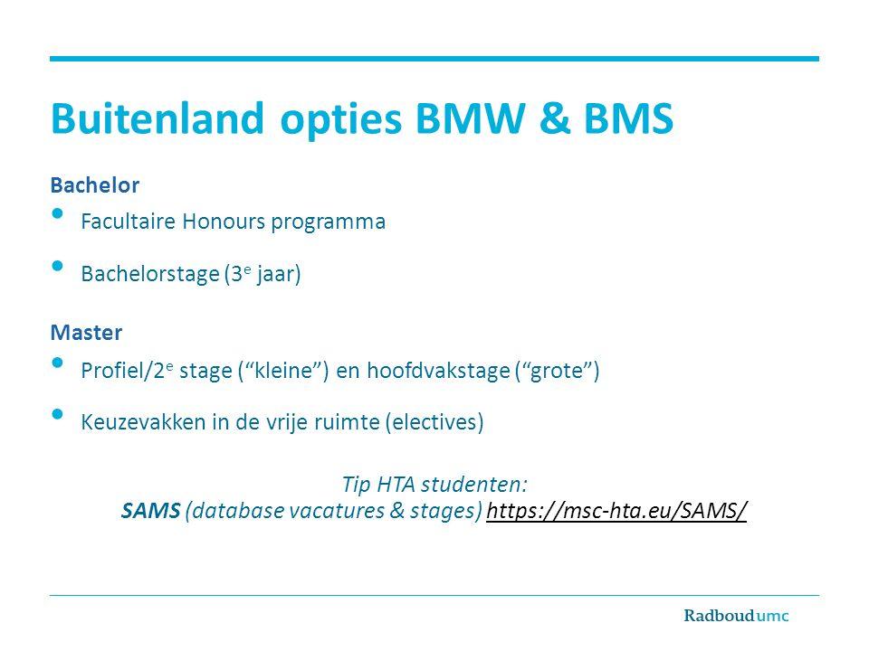 Buitenland opties BMW & BMS