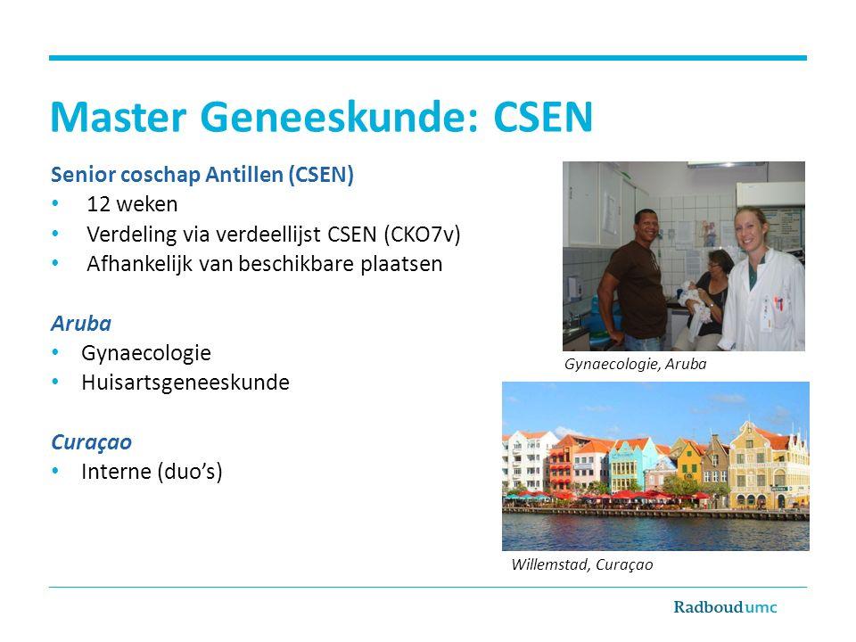 Master Geneeskunde: CSEN