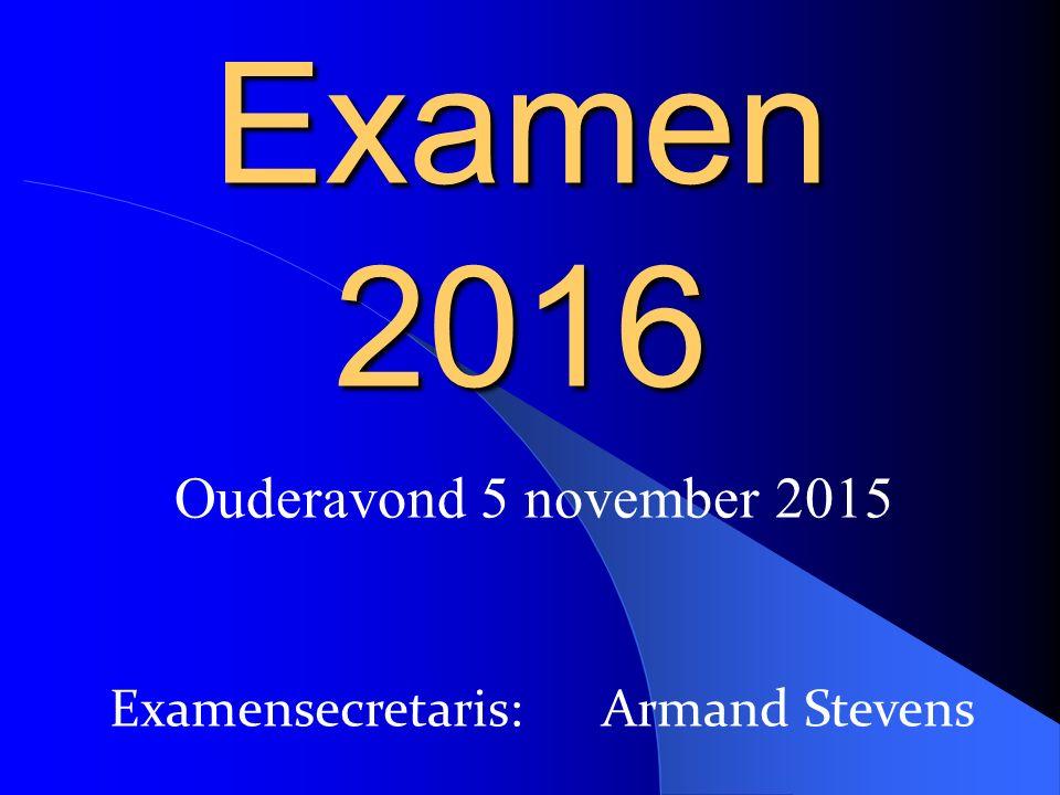 Examensecretaris: Armand Stevens