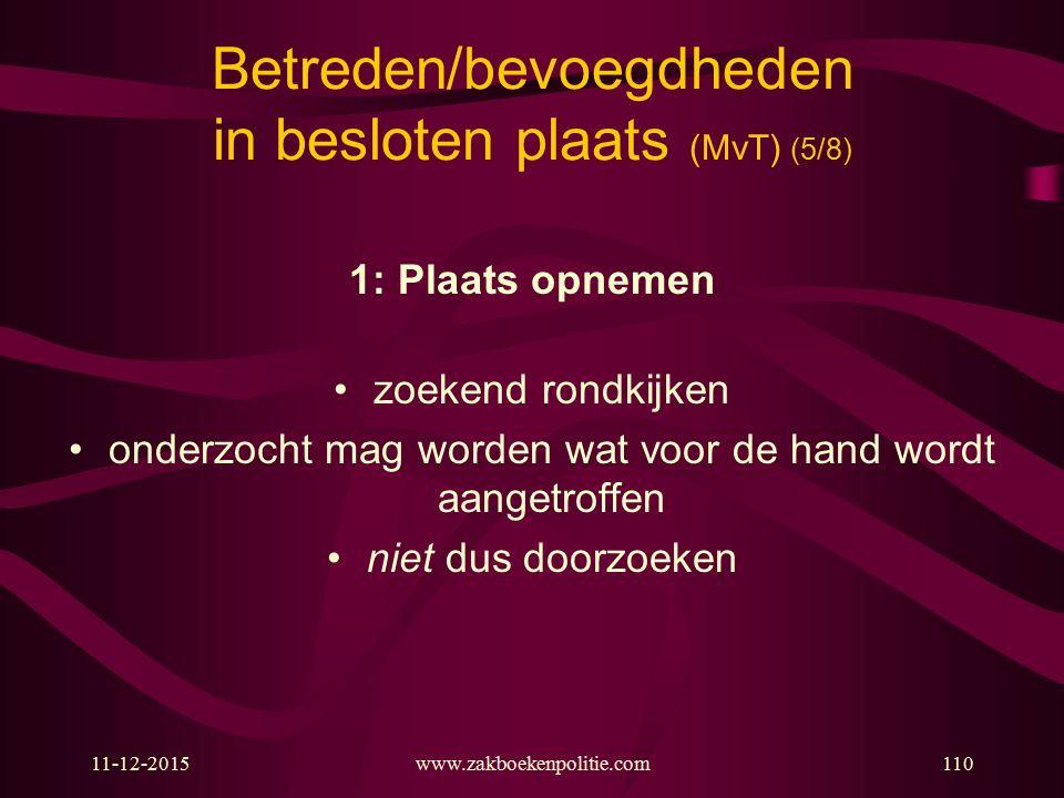 Betreden/bevoegdheden in besloten plaats (MvT) (5/8)