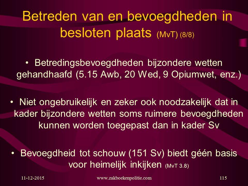 Betreden van en bevoegdheden in besloten plaats (MvT) (8/8)