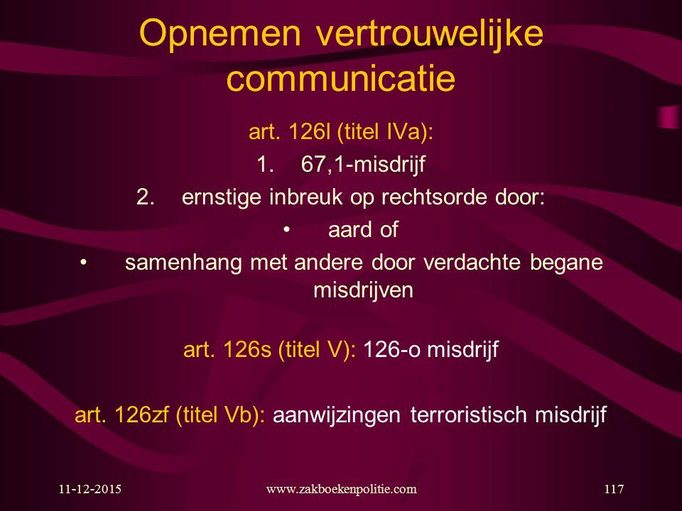 Opnemen vertrouwelijke communicatie