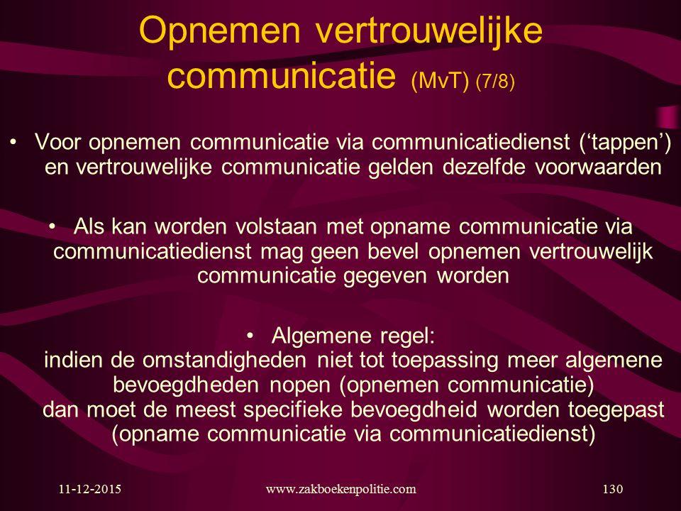 Opnemen vertrouwelijke communicatie (MvT) (7/8)