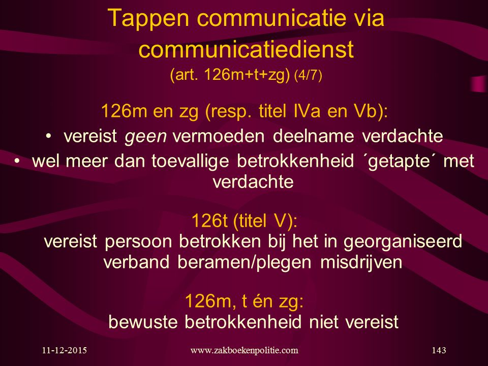 Tappen communicatie via communicatiedienst (art. 126m+t+zg) (4/7)