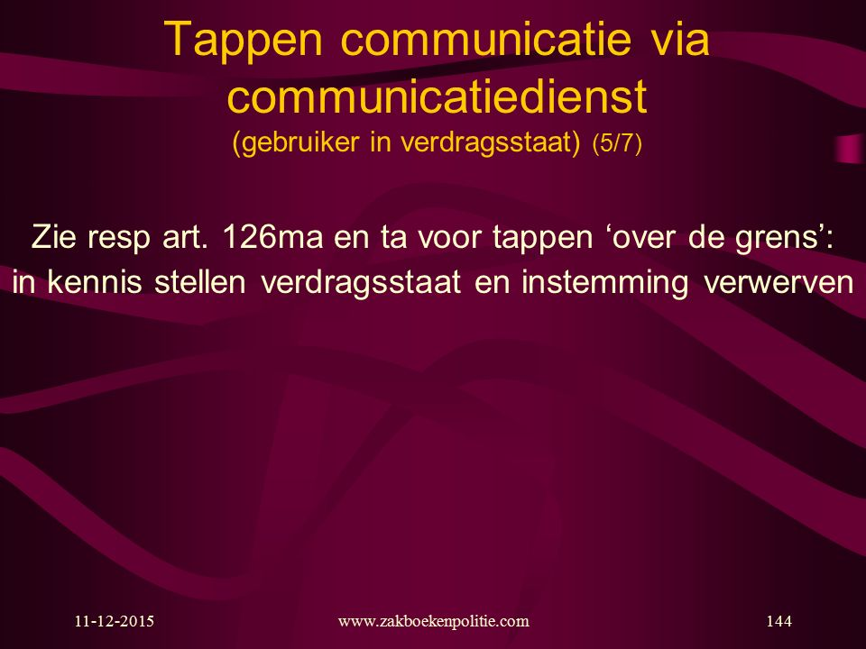 Tappen communicatie via communicatiedienst (gebruiker in verdragsstaat) (5/7)