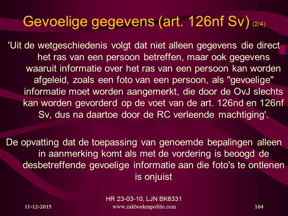 Gevoelige gegevens (art. 126nf Sv) (2/4)