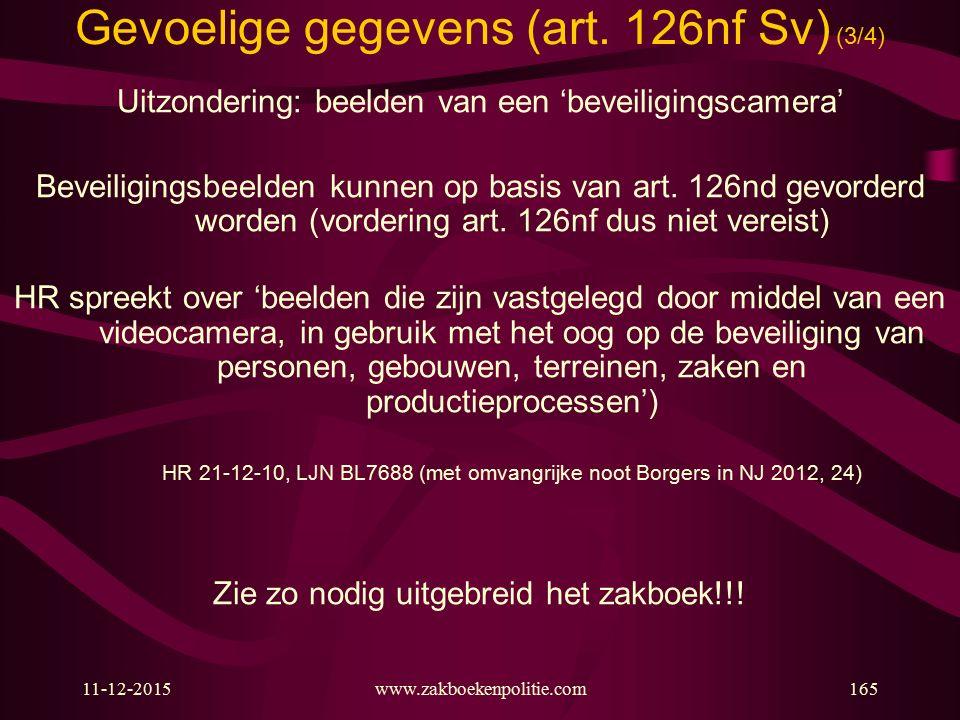 Gevoelige gegevens (art. 126nf Sv) (3/4)
