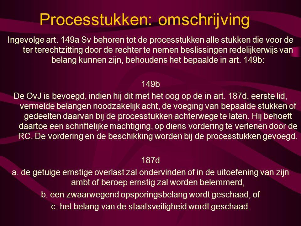 Processtukken: omschrijving