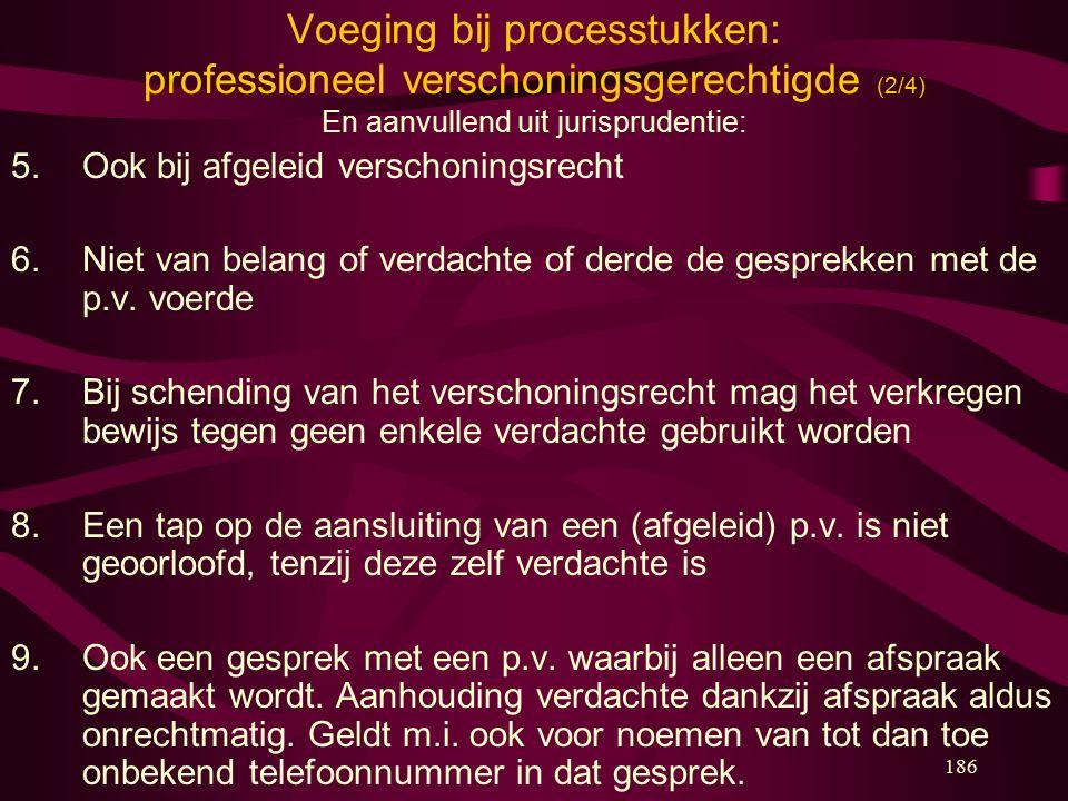 Voeging bij processtukken: professioneel verschoningsgerechtigde (2/4)