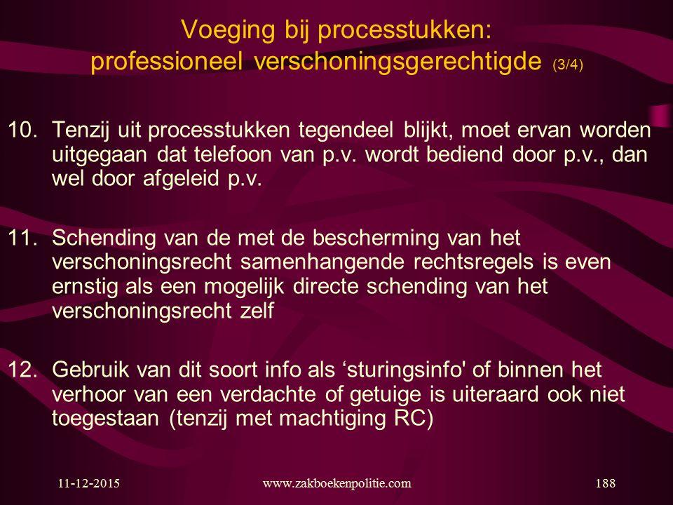 Voeging bij processtukken: professioneel verschoningsgerechtigde (3/4)