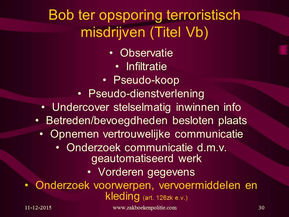 Bob ter opsporing terroristisch misdrijven (Titel Vb)