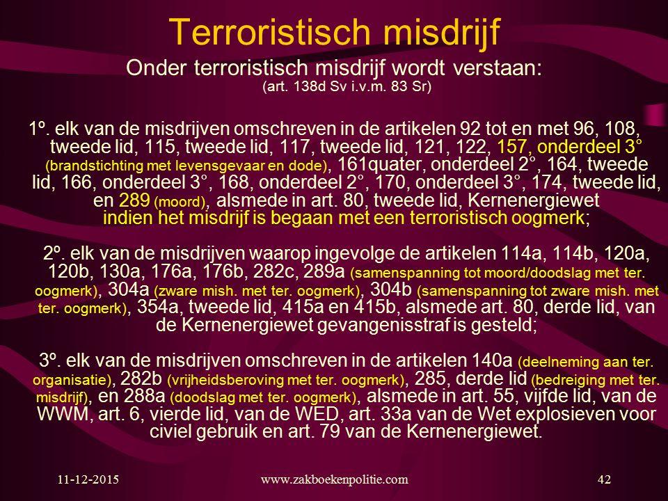 Terroristisch misdrijf