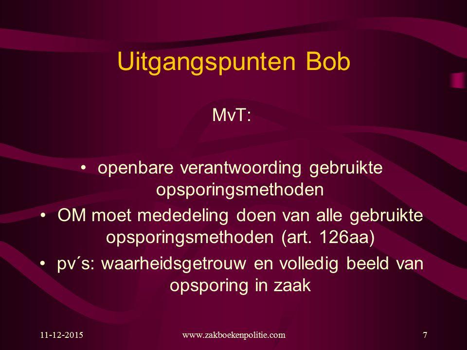Uitgangspunten Bob MvT:
