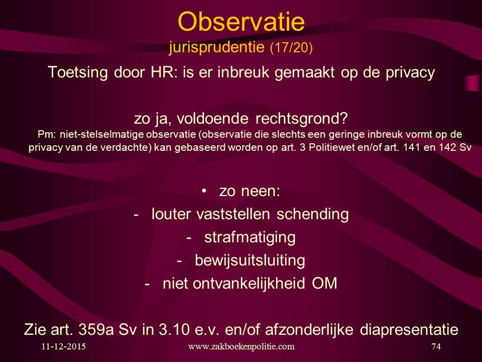 Observatie jurisprudentie (17/20)
