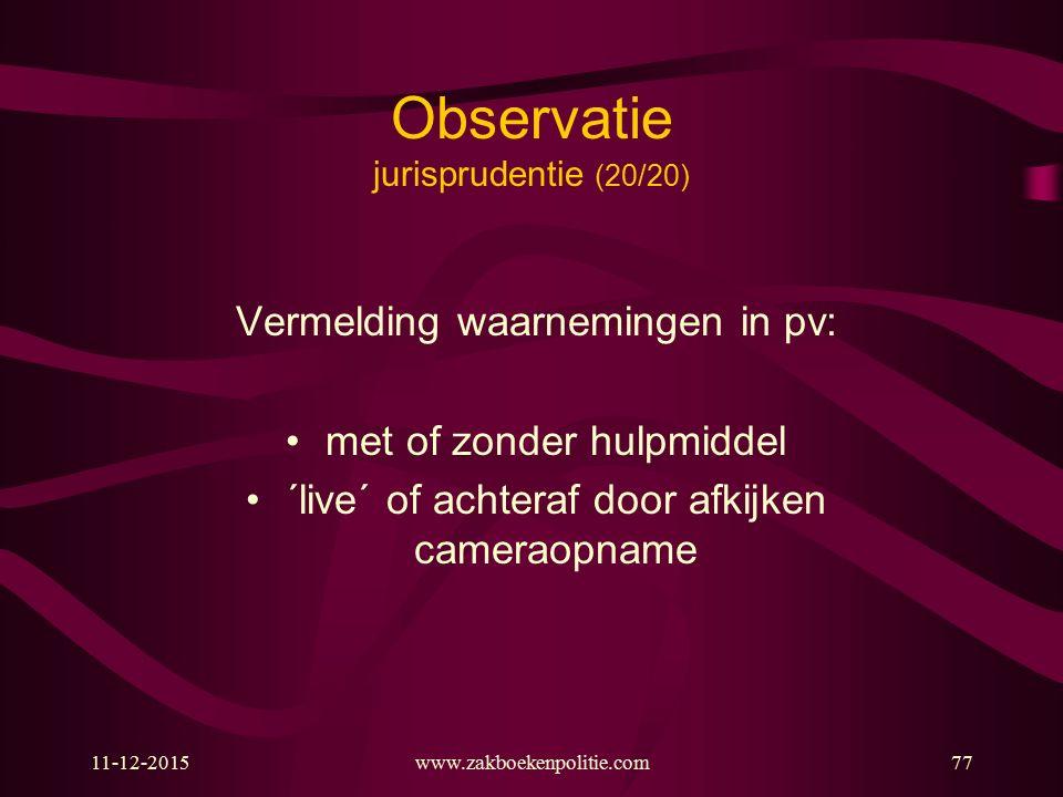 Observatie jurisprudentie (20/20)