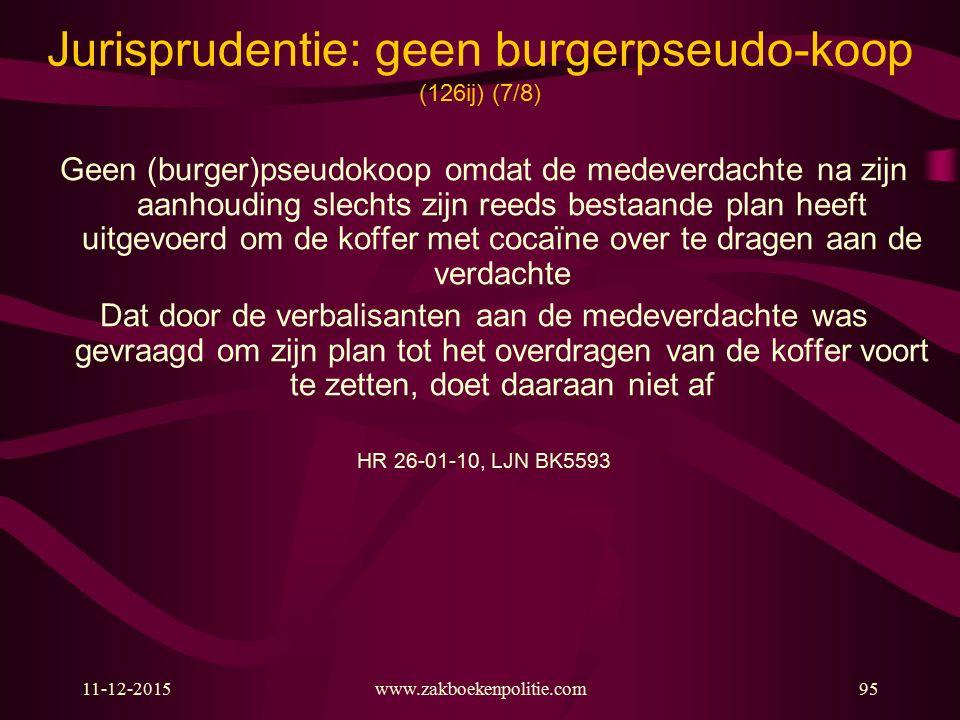 Jurisprudentie: geen burgerpseudo-koop (126ij) (7/8)