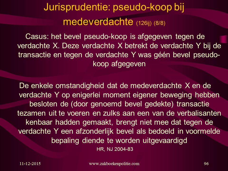 Jurisprudentie: pseudo-koop bij medeverdachte (126ij) (8/8)