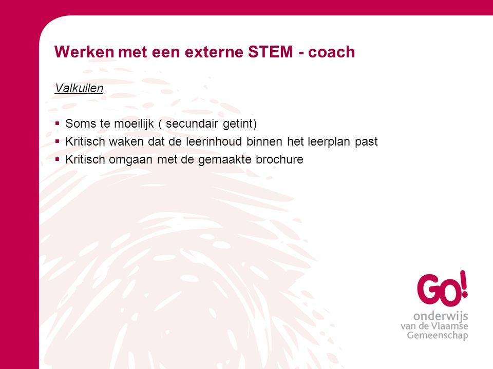 Werken met een externe STEM - coach