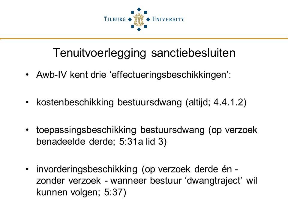 Tenuitvoerlegging sanctiebesluiten