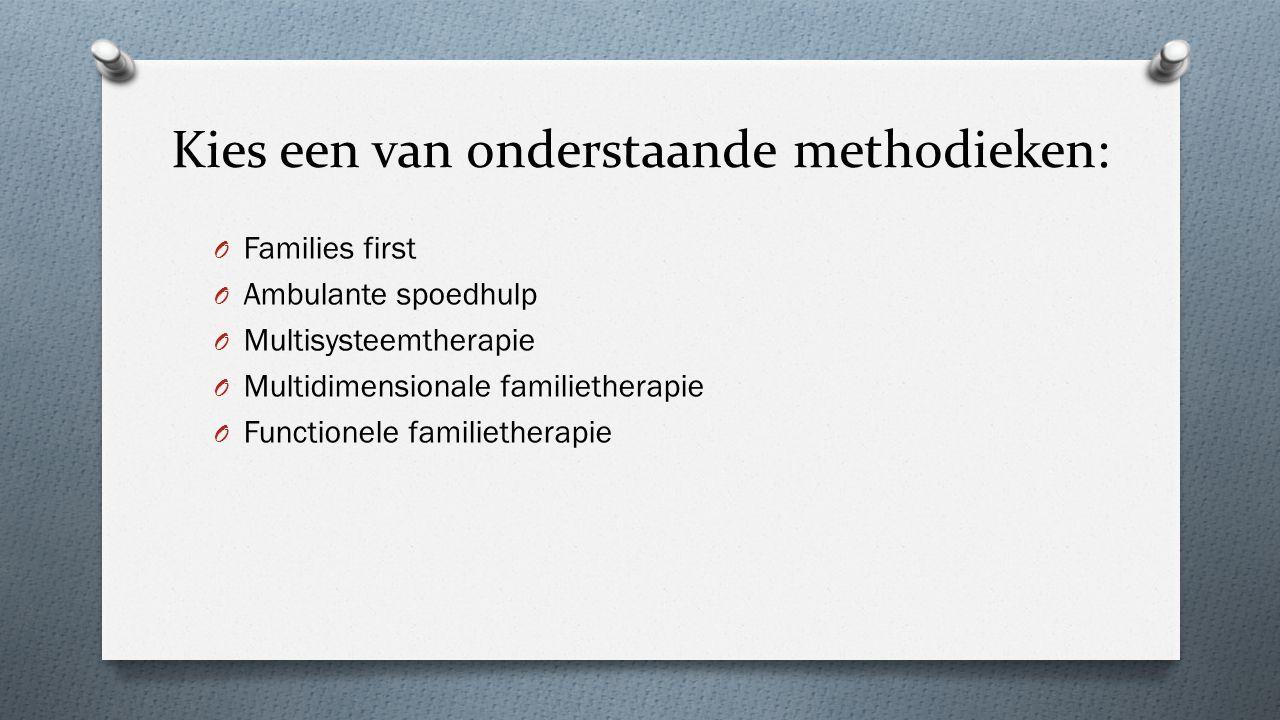 Kies een van onderstaande methodieken: