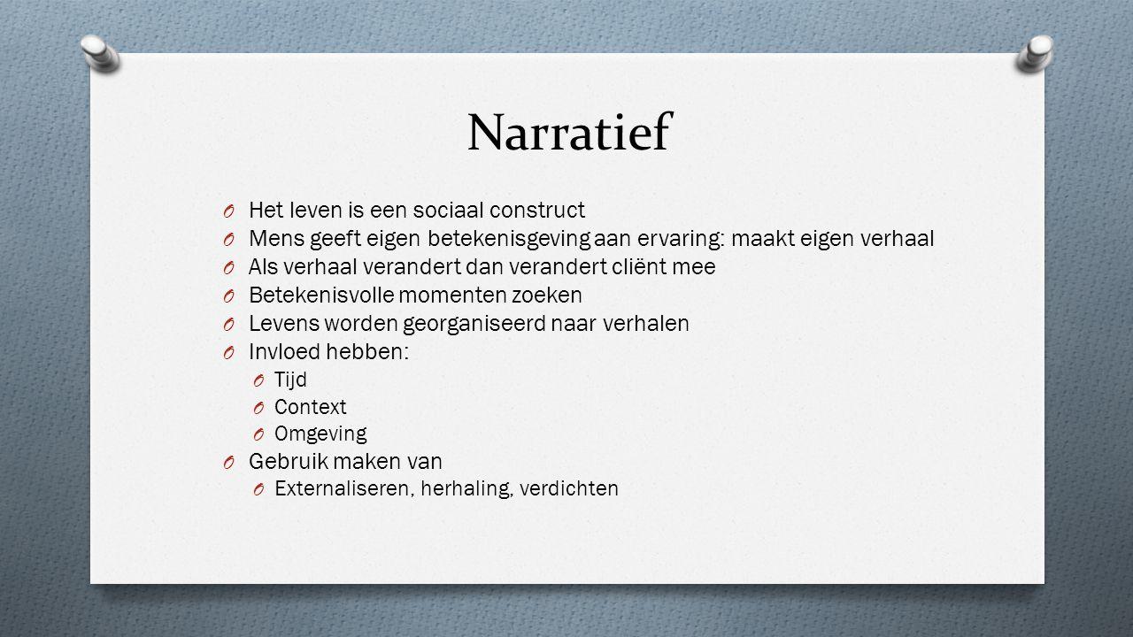 Narratief Het leven is een sociaal construct