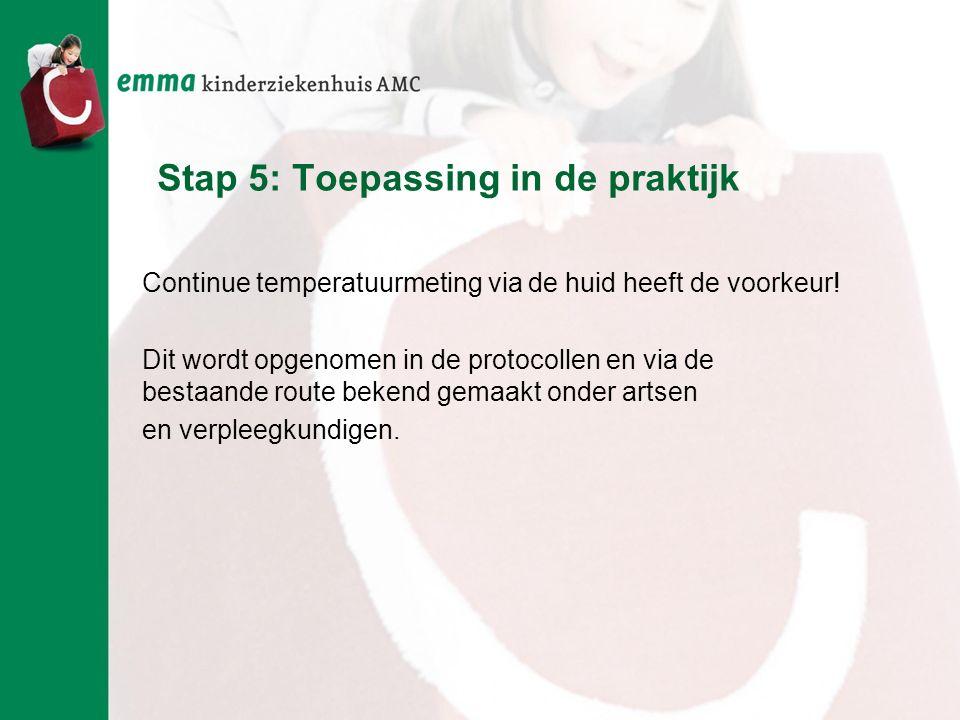 Stap 5: Toepassing in de praktijk
