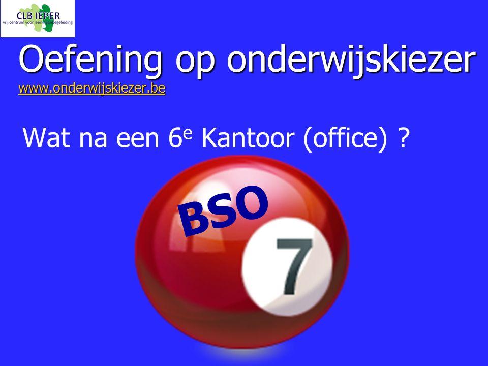 Oefening op onderwijskiezer www.onderwijskiezer.be