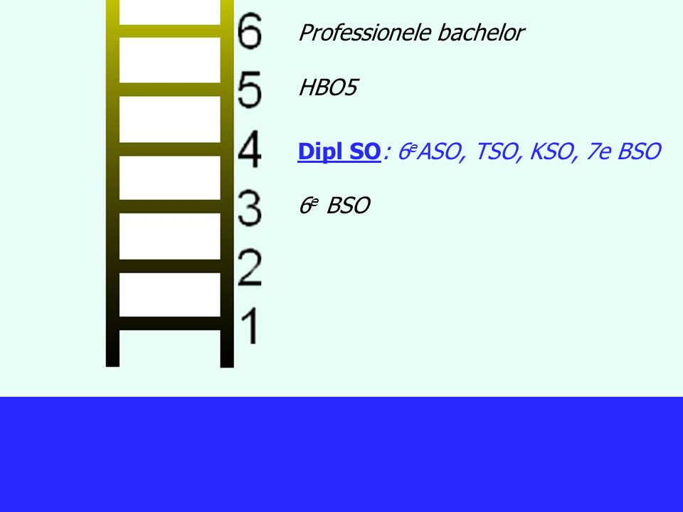 Professionele bachelor HBO5 Dipl SO: 6eASO, TSO, KSO, 7e BSO 6e BSO