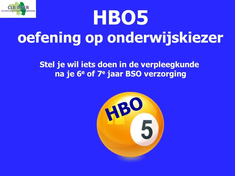 HBO5 oefening op onderwijskiezer