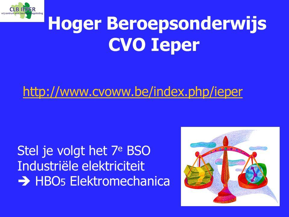 Hoger Beroepsonderwijs CVO Ieper