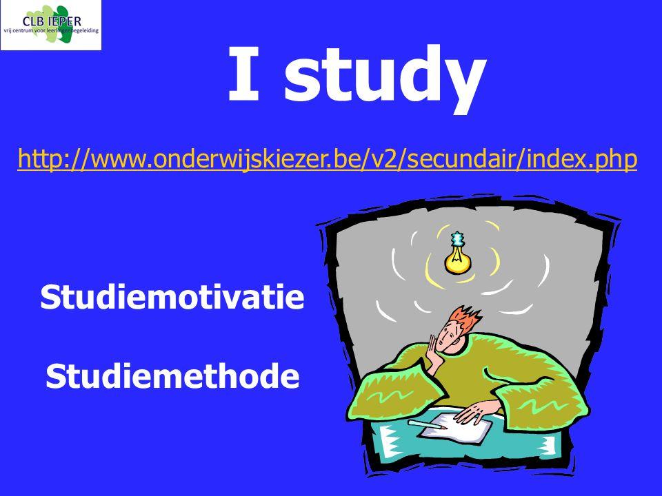 I study Studiemotivatie Studiemethode