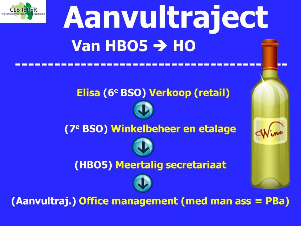Aanvultraject Van HBO5  HO ------------------------------------------