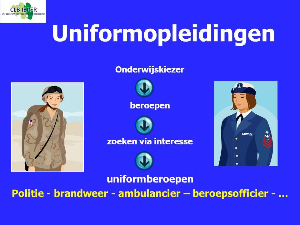 Politie - brandweer - ambulancier – beroepsofficier - …
