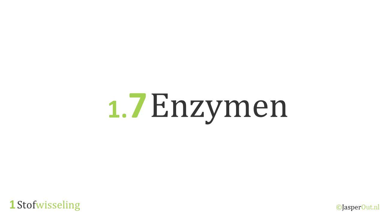 1.7 Enzymen 1 Stofwisseling ©JasperOut.nl