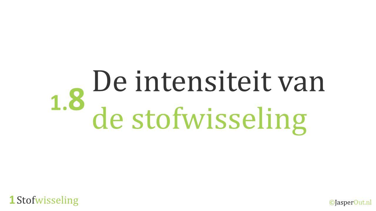 De intensiteit van de stofwisseling 1.8 1 Stofwisseling ©JasperOut.nl
