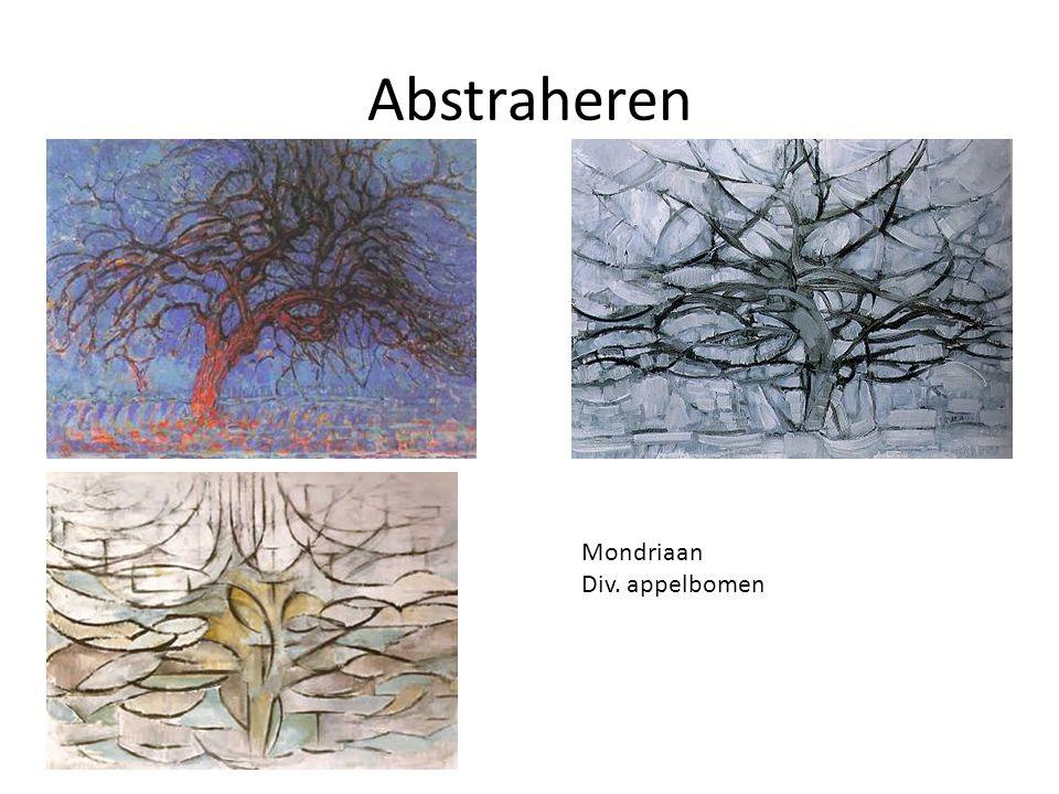 Abstraheren Mondriaan Div. appelbomen