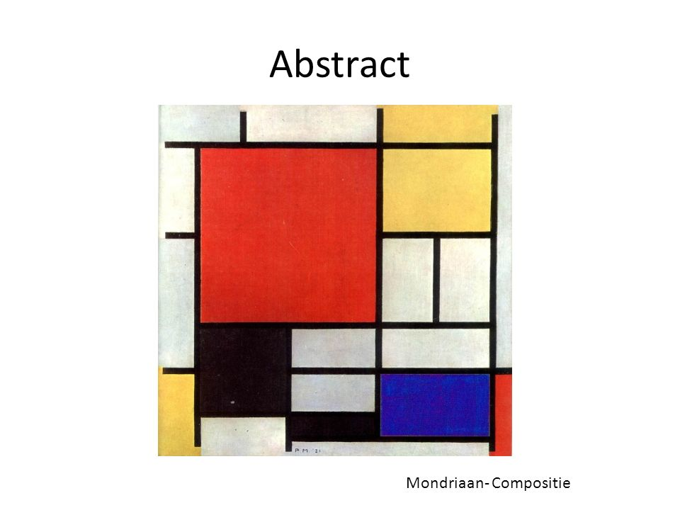 Abstract Mondriaan- Compositie