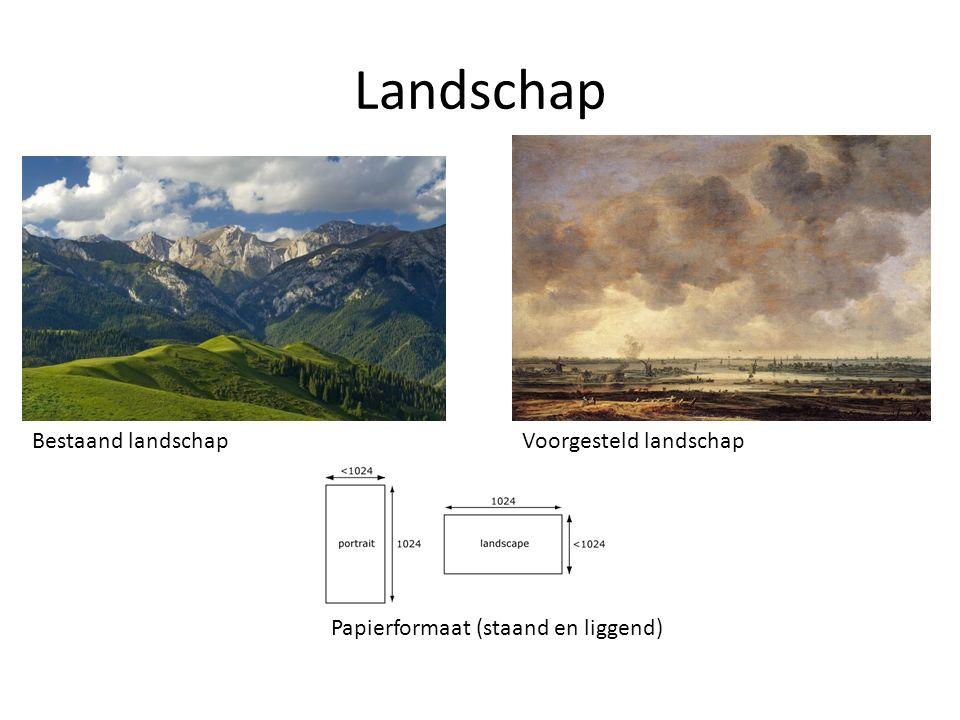 Landschap Bestaand landschap Voorgesteld landschap
