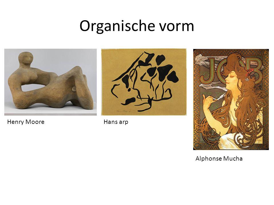 Organische vorm Henry Moore Hans arp Alphonse Mucha