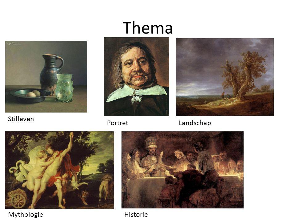 Thema Stilleven Portret Landschap Mythologie Historie