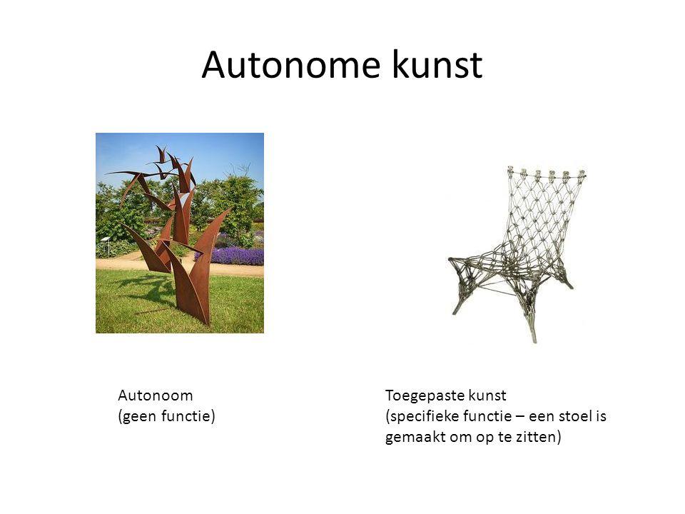 Autonome kunst Autonoom (geen functie) Toegepaste kunst