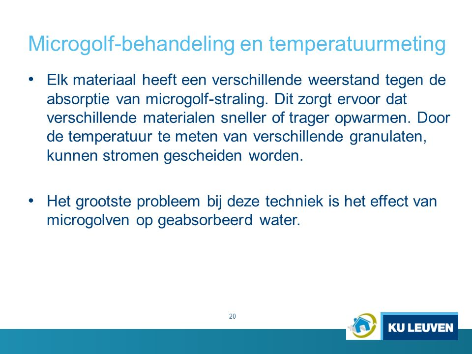 Microgolf-behandeling en temperatuurmeting