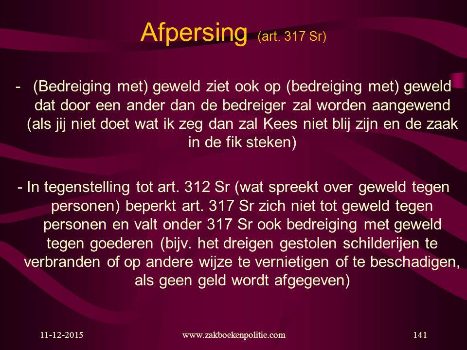 Afpersing (art. 317 Sr)