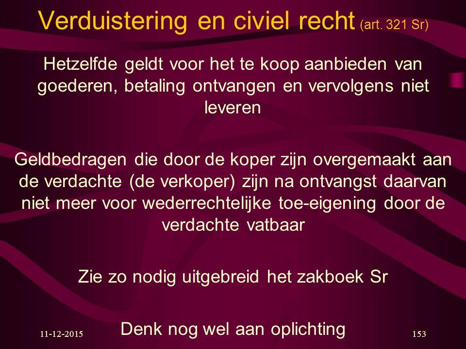 Verduistering en civiel recht (art. 321 Sr)