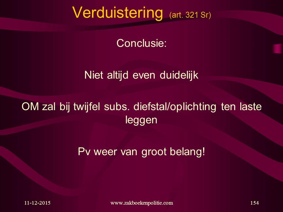Verduistering (art. 321 Sr)