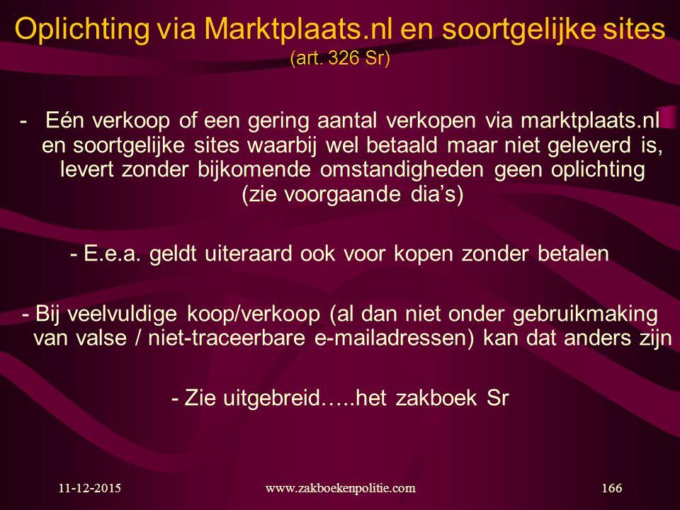 Oplichting via Marktplaats.nl en soortgelijke sites (art. 326 Sr)