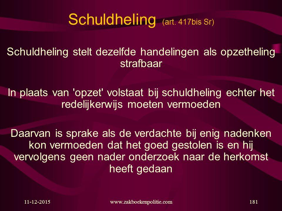 Schuldheling (art. 417bis Sr)