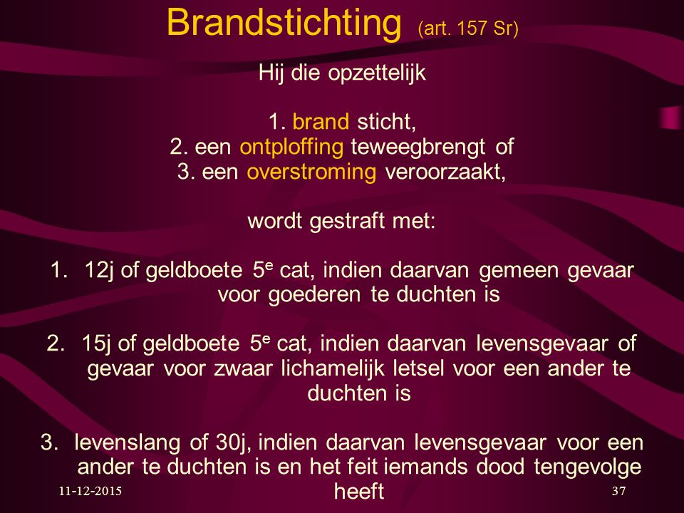 Brandstichting (art. 157 Sr)
