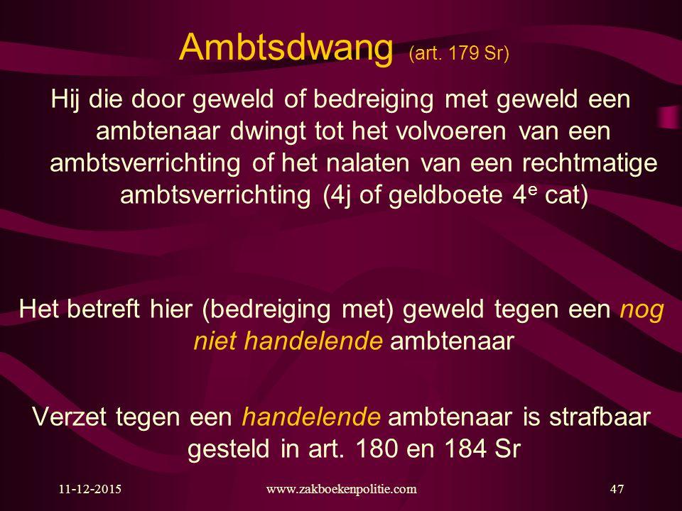 Ambtsdwang (art. 179 Sr)